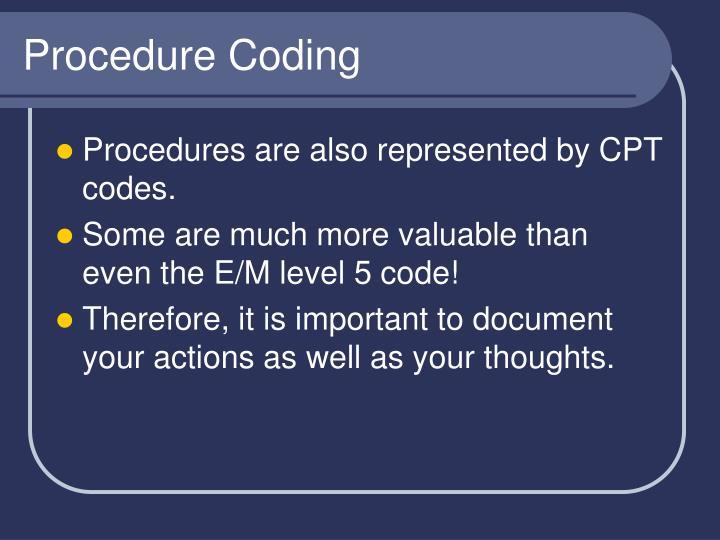 Procedure Coding