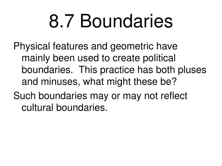 8.7 Boundaries