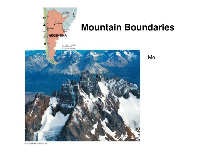 Mountain Boundaries