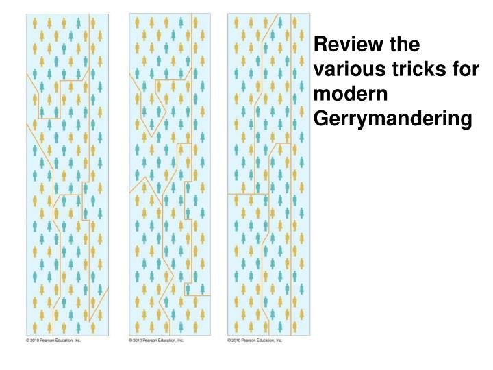 Review the various tricks for modern Gerrymandering