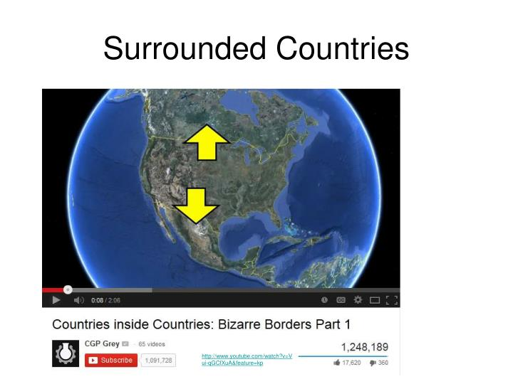 Surrounded Countries