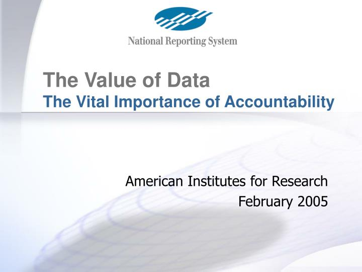 american institutes for research february 2005 n.