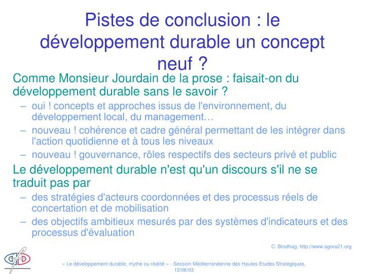 Comme Monsieur Jourdain de la prose : faisait-on du développement durable sans le savoir ?