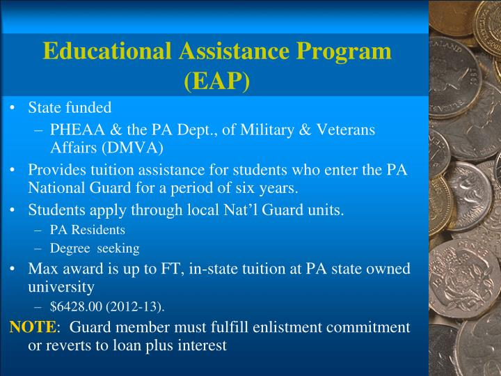 Educational Assistance Program (EAP)