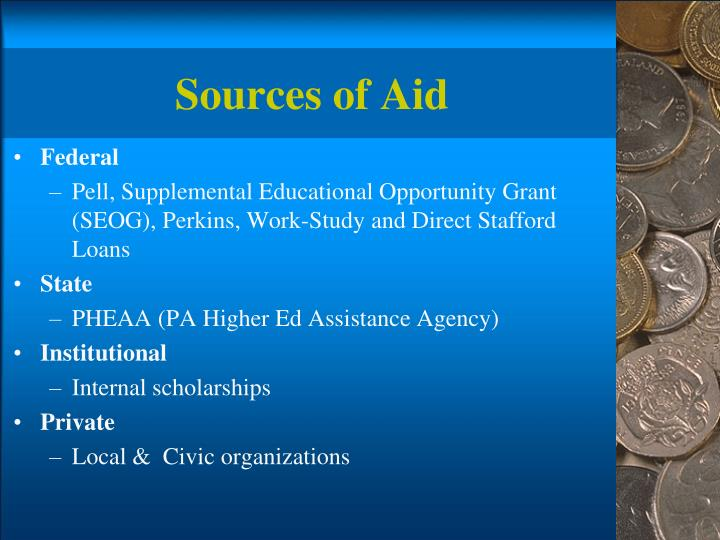 Sources of Aid