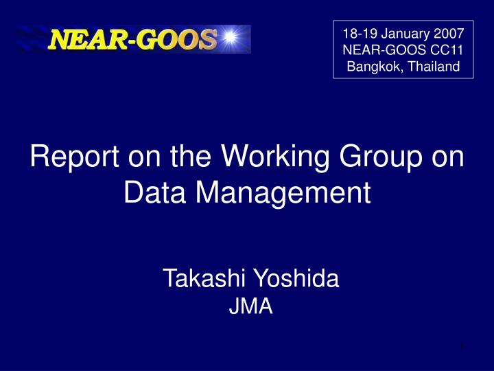report on the working group on data management n.