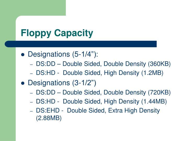Floppy Capacity