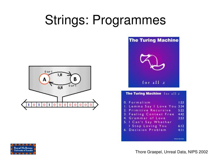Strings: Programmes