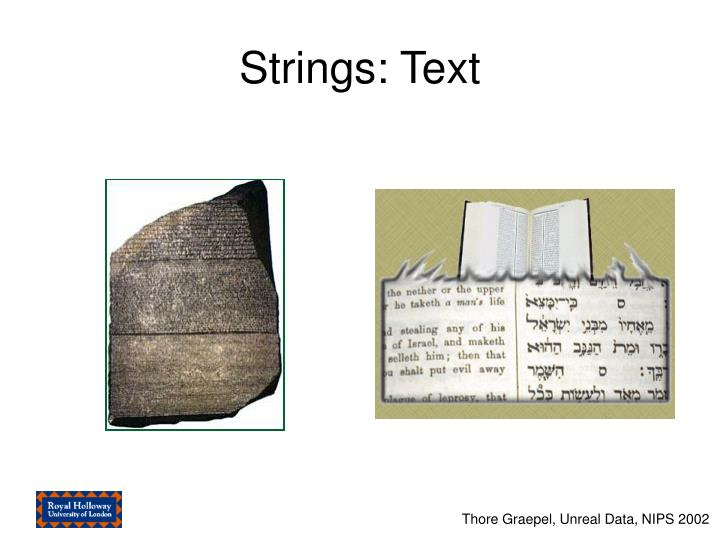 Strings: Text