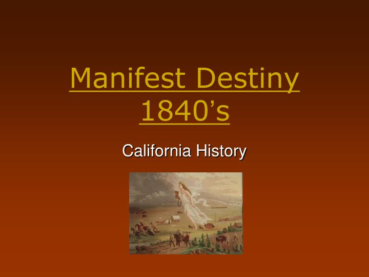 ap us history essay on manifest destiny