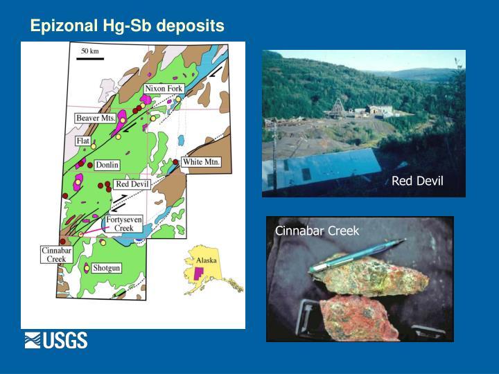 Epizonal Hg-Sb deposits