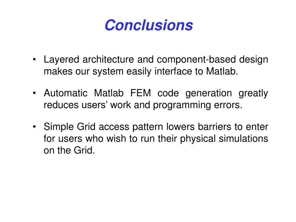 PPT - A PSE for Automatic Matlab 3D Finite Element Code Generation