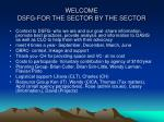 welcome dsfg for the sector by the sector
