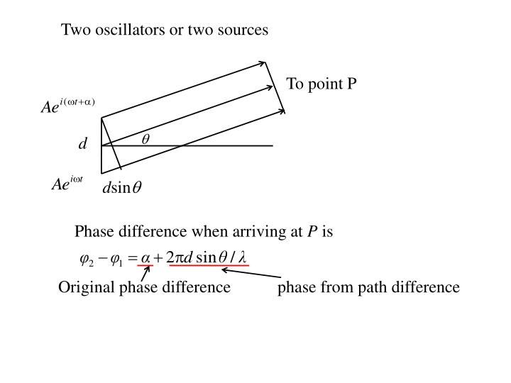 Two oscillators or two sources