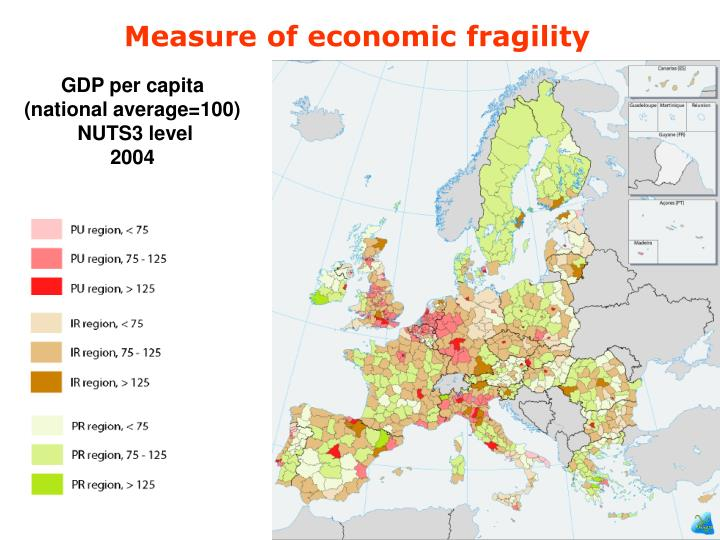 Measure of economic fragility