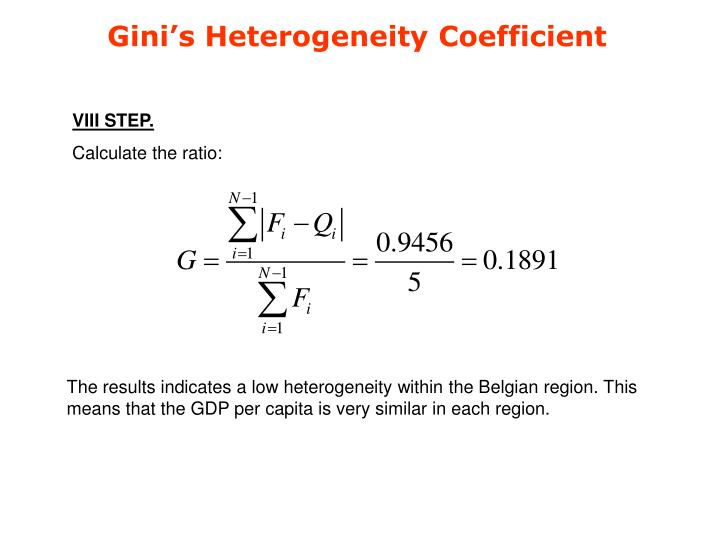 Gini's Heterogeneity Coefficient