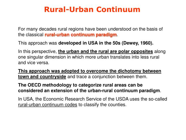 Rural-Urban Continuum