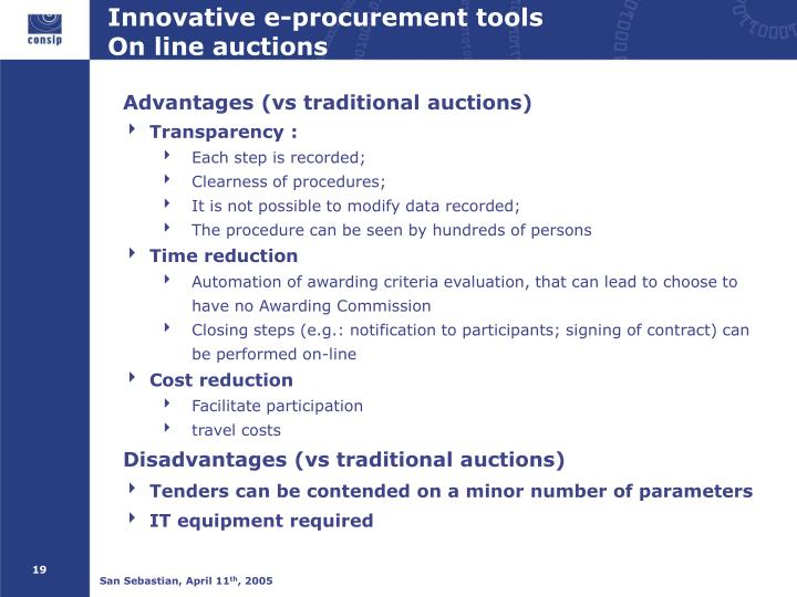 Innovative e-procurement tools