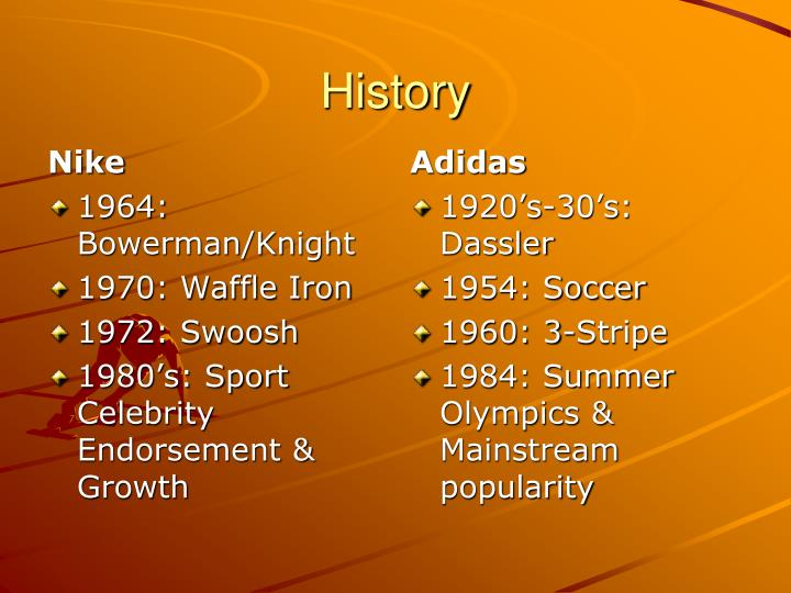 Ppt Nike Vs Adidas Powerpoint Presentation Id3697645