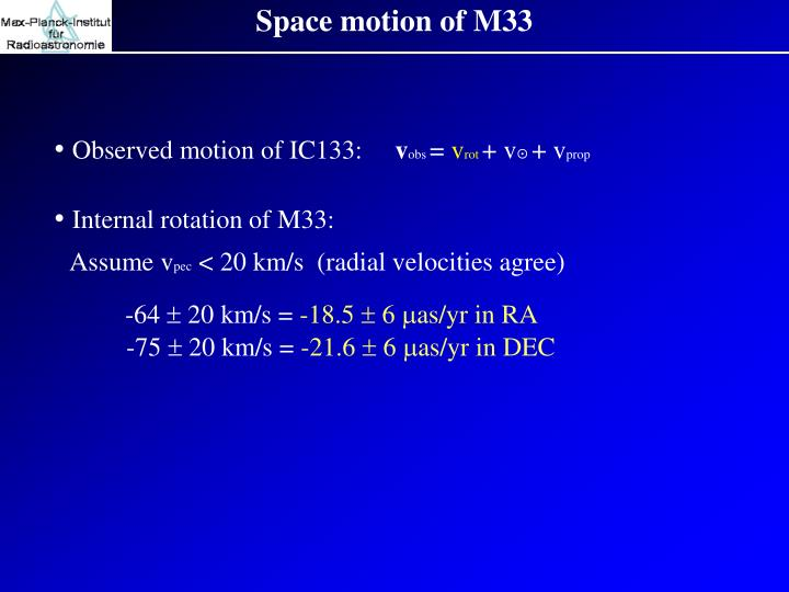Space motion of M33