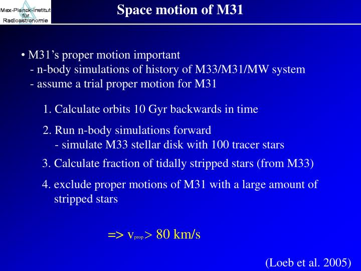 Space motion of M31