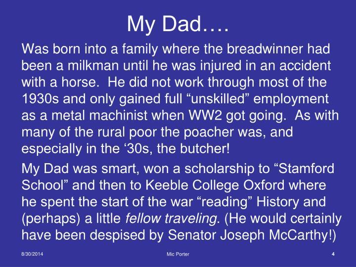 My Dad….