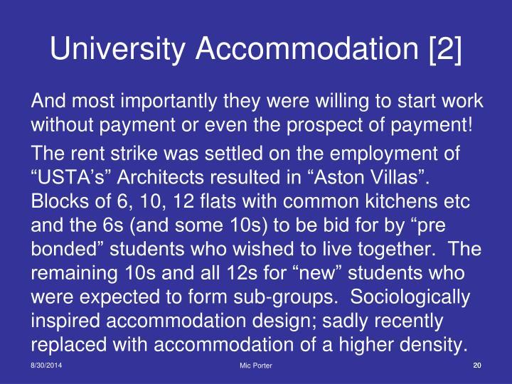 University Accommodation [2]