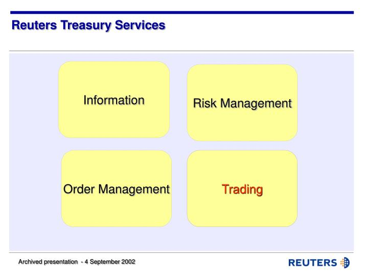 Reuters treasury services