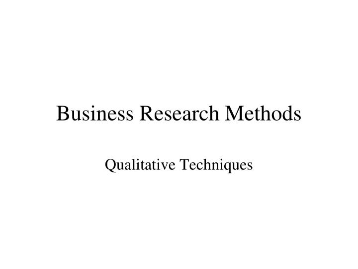 business research methods n.