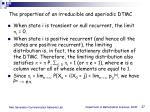 the properties of an irreducible and aperiodic dtmc