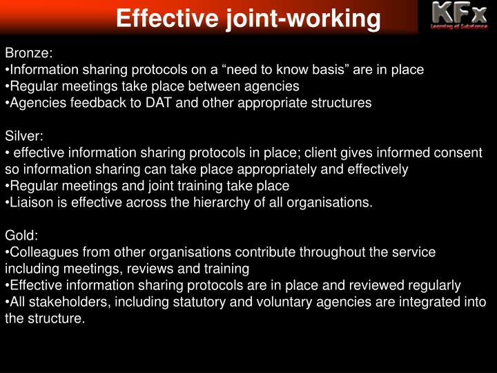 Effective joint-working