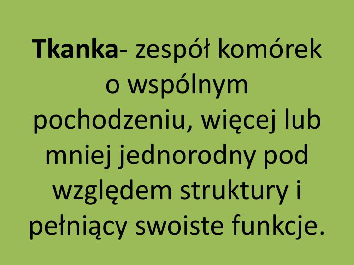 Tkanka