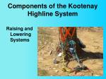 components of the kootenay highline system10