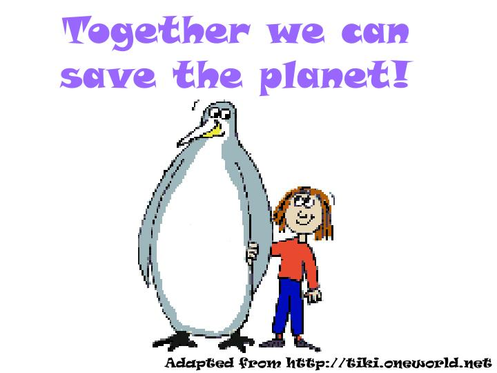 together we can save the planet