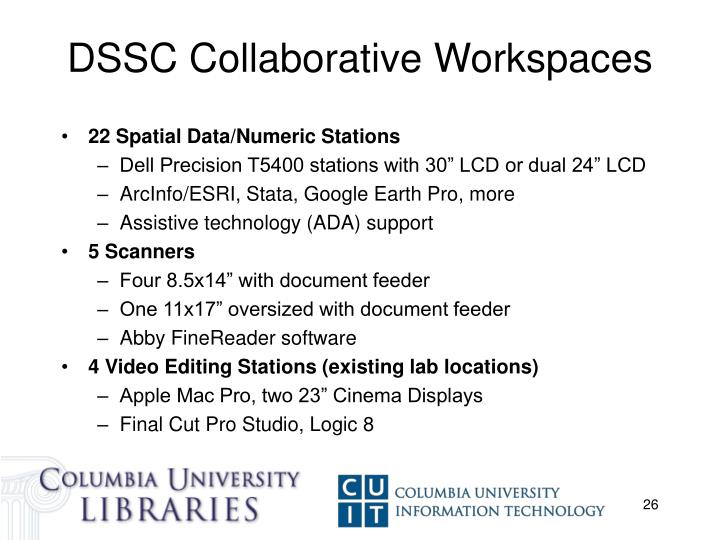 DSSC Collaborative Workspaces