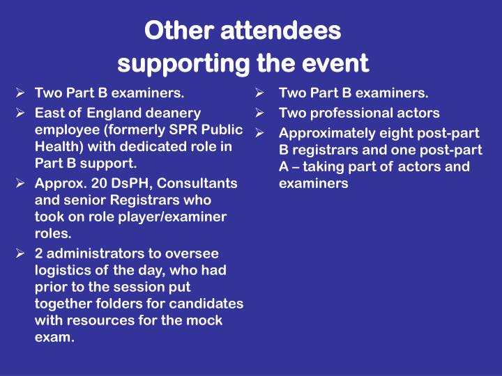 Other attendees