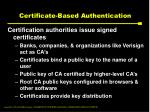 certificate based authentication