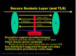 secure sockets layer and tls