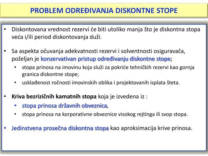 PROBLEM ODREĐIVANJA DISKONTNE STOPE