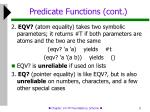 predicate functions cont