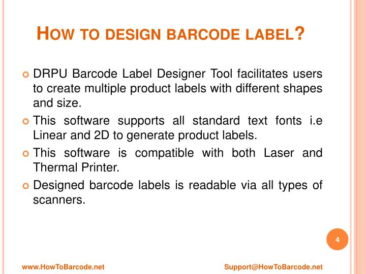 How to design barcode label?