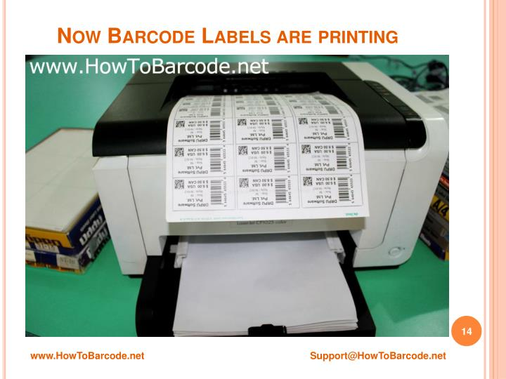 Now Barcode Labels are printing
