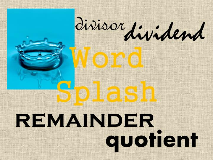 word splash n.