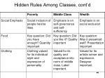 hidden rules among classes cont d