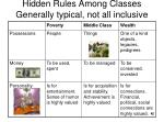 hidden rules among classes generally typical not all inclusive