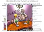 hidden rules among classes generally typical not all inclusive1