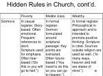 hidden rules in church cont d