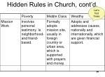hidden rules in church cont d1