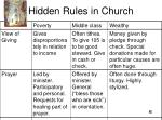 hidden rules in church