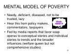 mental model of poverty